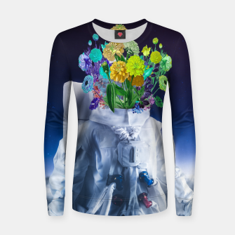 Space's flower Woman cotton sweater Bild der Miniatur