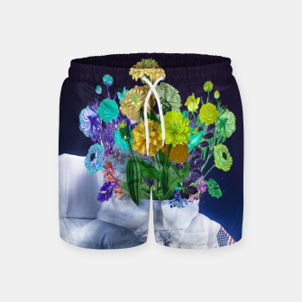 Miniatur Space's flower Swim Shorts, Live Heroes