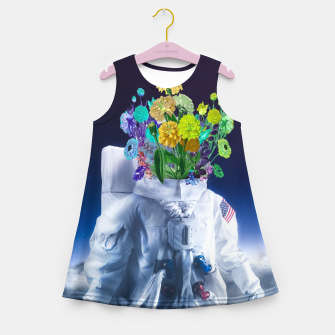 Space's flower Girl's summer dress Bild der Miniatur