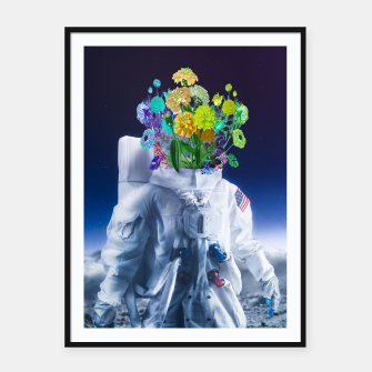 Space's flower Framed poster Bild der Miniatur