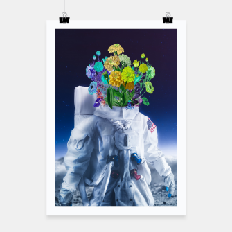 Miniaturka Space's flower Poster, Live Heroes