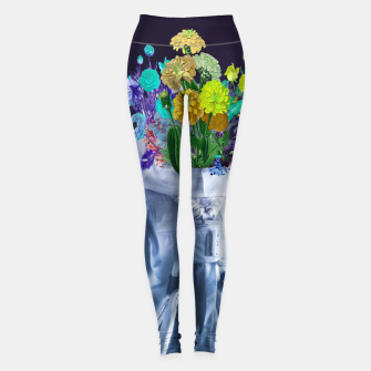 Space's flower Leggings Bild der Miniatur