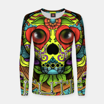 Miniaturka Cute Skull Dia de Los Muertos Woman cotton sweater, Live Heroes