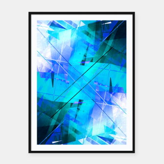 Thumbnail image of Vaporwave - Geometric Abstract Art Framed poster, Live Heroes