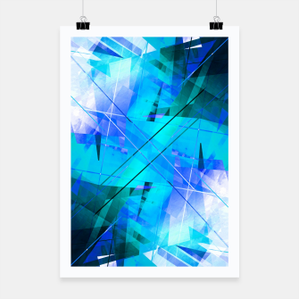 Miniatur Vaporwave - Geometric Abstract Art Poster, Live Heroes