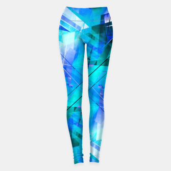 Thumbnail image of Vaporwave - Geometric Abstract Art Leggings, Live Heroes