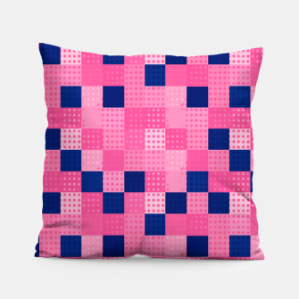 Thumbnail image of Cheerful Dotted chess - dense Pillow, Live Heroes