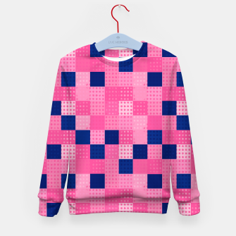 Thumbnail image of Cheerful Dotted chess - dense Kid's sweater, Live Heroes