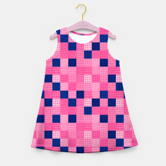 Thumbnail image of Cheerful Dotted chess - dense Girl's summer dress, Live Heroes