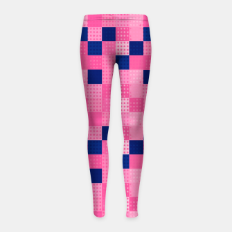 Thumbnail image of Cheerful Dotted chess - dense Girl's leggings, Live Heroes
