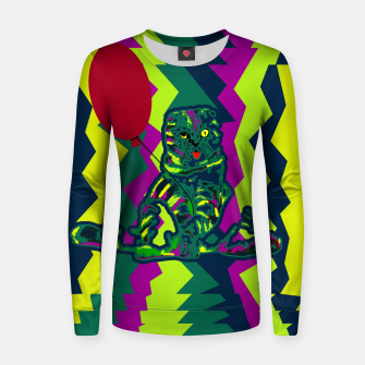 Thumbnail image of Kitty and Balloon Woman cotton sweater, Live Heroes