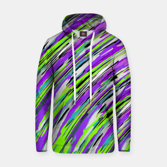 Thumbnail image of curly line pattern abstract background in purple and green Cotton hoodie, Live Heroes
