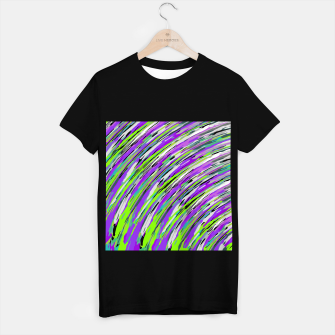 Thumbnail image of curly line pattern abstract background in purple and green T-shirt regular, Live Heroes