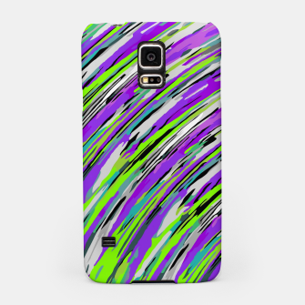 Thumbnail image of curly line pattern abstract background in purple and green Samsung Case, Live Heroes