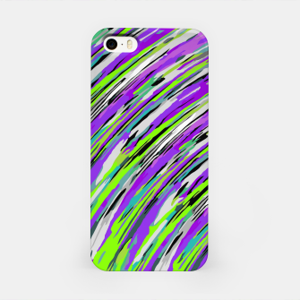 Thumbnail image of curly line pattern abstract background in purple and green iPhone Case, Live Heroes
