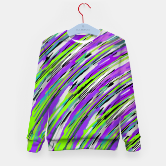 Thumbnail image of curly line pattern abstract background in purple and green Kid's sweater, Live Heroes