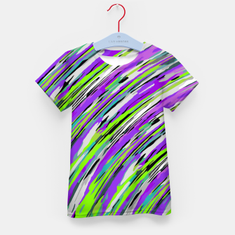 Thumbnail image of curly line pattern abstract background in purple and green Kid's t-shirt, Live Heroes