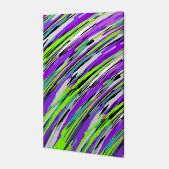 Thumbnail image of curly line pattern abstract background in purple and green Canvas, Live Heroes
