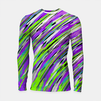 Thumbnail image of curly line pattern abstract background in purple and green Longsleeve rashguard , Live Heroes