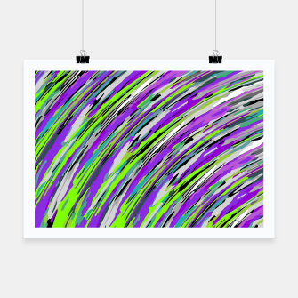 Thumbnail image of curly line pattern abstract background in purple and green Poster, Live Heroes