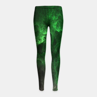 Thumbnail image of Cave Drip Green Girl's leggings, Live Heroes