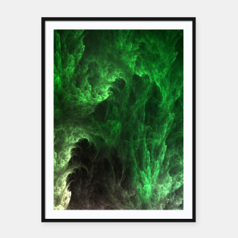 Thumbnail image of Cave Drip Green Framed poster, Live Heroes