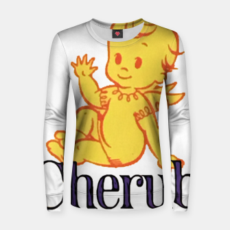 Thumbnail image of Cherub Woman cotton sweater, Live Heroes