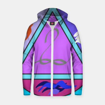 Symbol Cotton zip up hoodie thumbnail image
