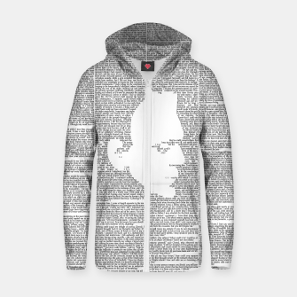 Frankenstein - The Modern Prometheus Cotton zip up hoodie thumbnail image