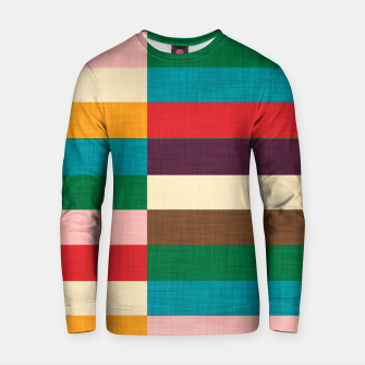 Thumbnail image of kilim mid century modern square Cotton sweater, Live Heroes