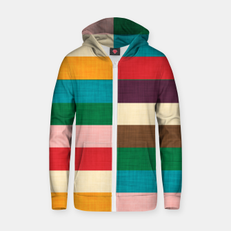 Thumbnail image of kilim mid century modern square Cotton zip up hoodie, Live Heroes