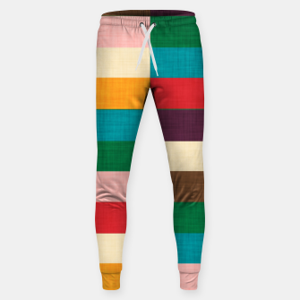 Thumbnail image of kilim mid century modern square Cotton sweatpants, Live Heroes