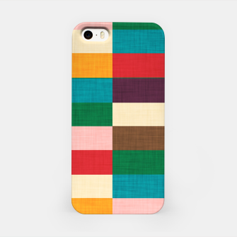 Thumbnail image of kilim mid century modern square iPhone Case, Live Heroes