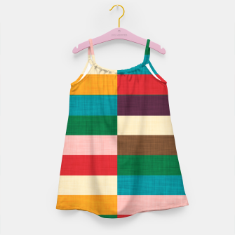 Thumbnail image of kilim mid century modern square Girl's dress, Live Heroes