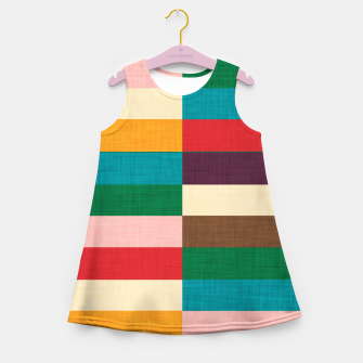 Thumbnail image of kilim mid century modern square Girl's summer dress, Live Heroes