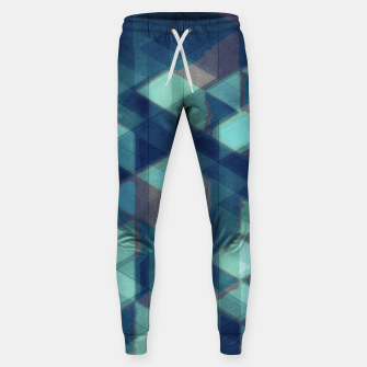 Miniatur Abstract Geometric Background LI Cotton sweatpants, Live Heroes