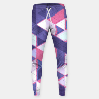 Miniaturka Abstract Geometric Background L Cotton sweatpants, Live Heroes