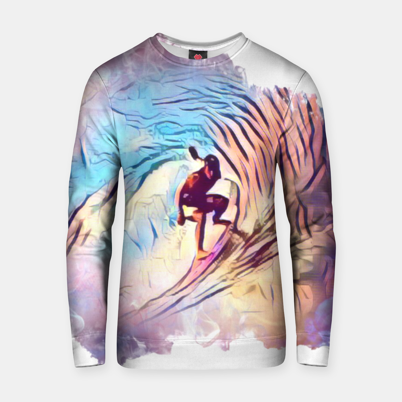 Image of Surfing The Tube 2 Cotton sweater - Live Heroes