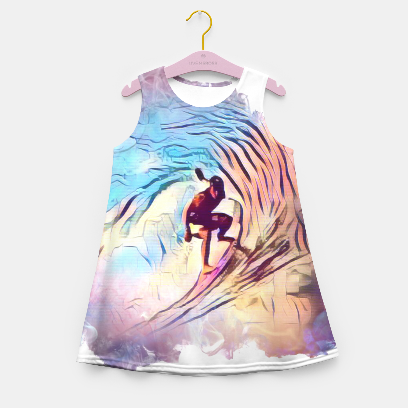 Image of Surfing The Tube 2 Girl's summer dress - Live Heroes