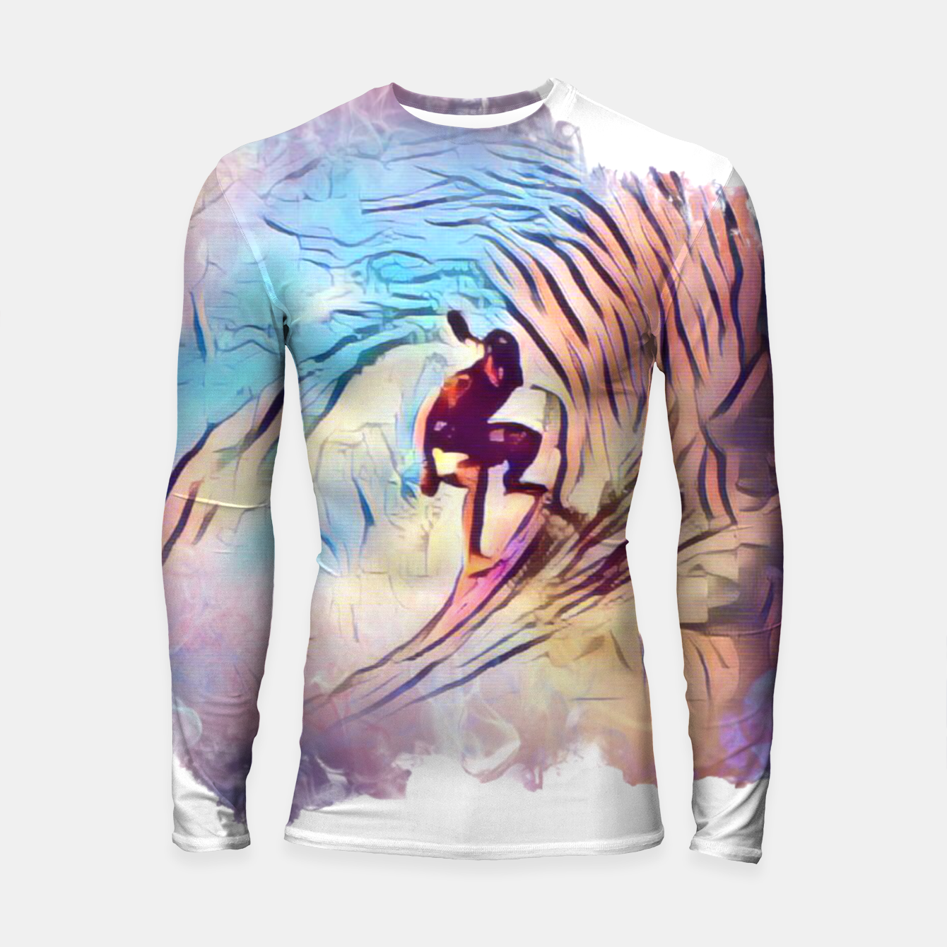 Image of Surfing The Tube 2 Longsleeve rashguard  - Live Heroes