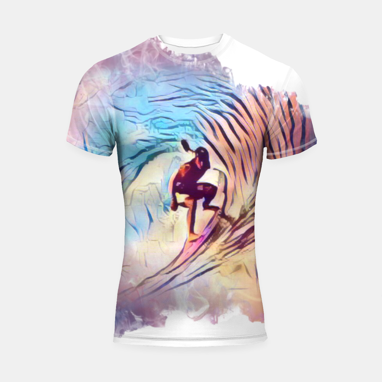 Image of Surfing The Tube 2 Shortsleeve rashguard - Live Heroes