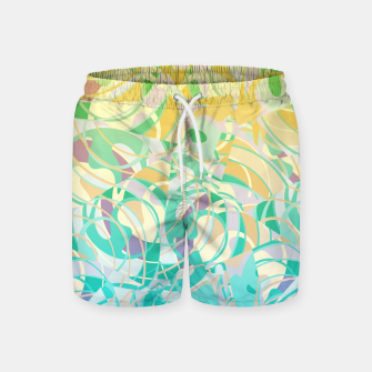 Miniaturka Summer Beach Days Abstract - Yellows And Blues Swim Shorts, Live Heroes