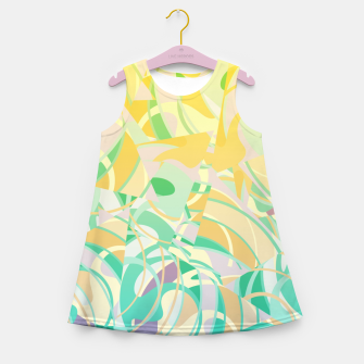 Thumbnail image of Summer Beach Days Abstract - Yellows And Blues Girl's summer dress, Live Heroes