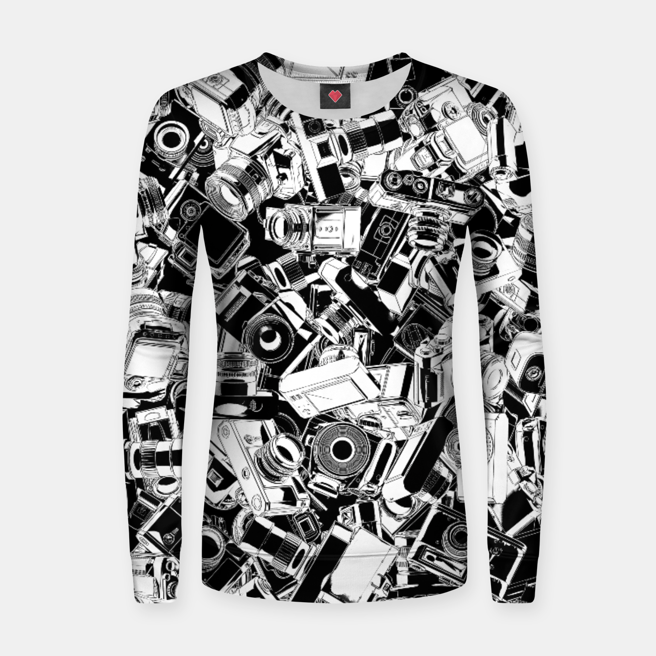 Image of Shutterbug Woman cotton sweater - Live Heroes