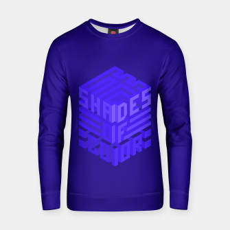 Thumbnail image of Shades ISO Blue Cotton sweater, Live Heroes