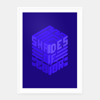 Thumbnail image of Shades ISO Blue Framed poster, Live Heroes