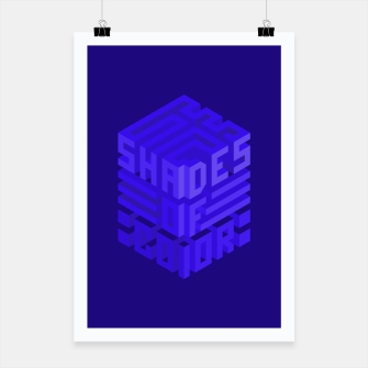 Thumbnail image of Shades ISO Blue Poster, Live Heroes