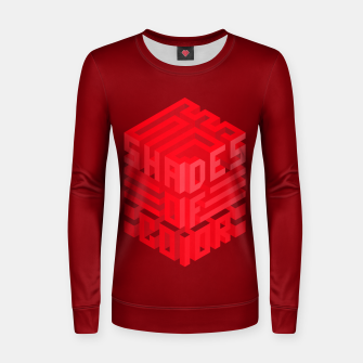 Thumbnail image of Shades ISO Red Woman cotton sweater, Live Heroes