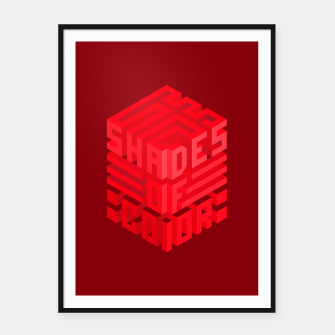 Thumbnail image of Shades ISO Red Framed poster, Live Heroes
