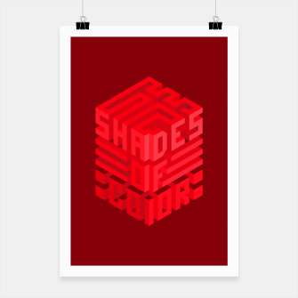 Thumbnail image of Shades ISO Red Poster, Live Heroes